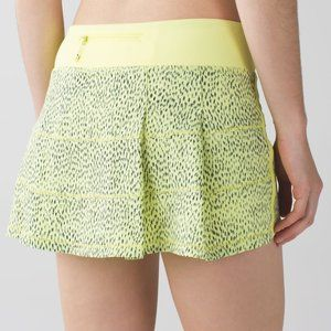 Lululemon Pace Rival Skirt Dottie Dash Yellow 2